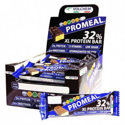 Снимка на Кутия с 20 бр. Протеинов бар VOLCHEM Promeal XL Protein 32% от 75 г.