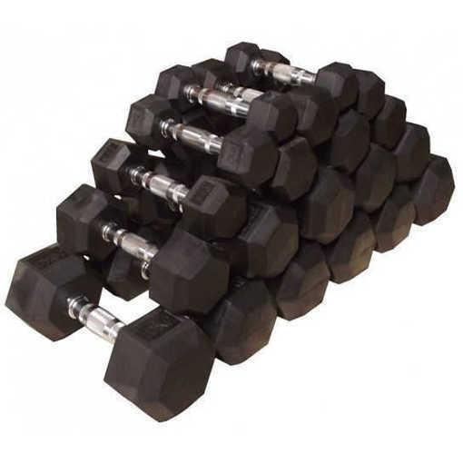 Снимка на Сет шестоъгълни дъмбел BF FITNESS LINE Хекс / шестограм, комплект - 385 кг