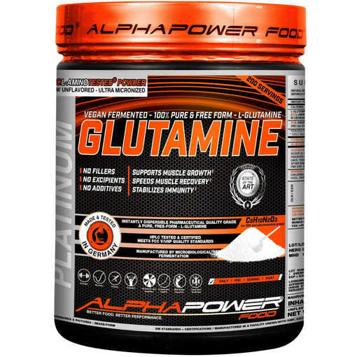 Xранителна добавка 100% Pure L-Glutamine Alphapower Food, 1000 грама