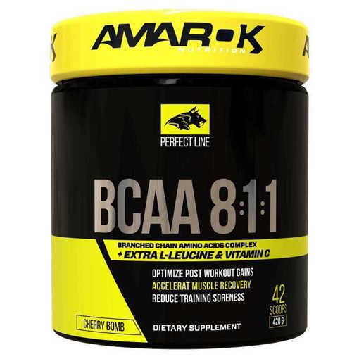 Хранителна добавка Perfect BCAA 8:1:1 Amarok Nutrition, 420 грама