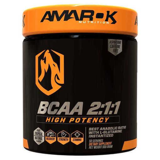 Снимка на Xранителна добавка BCAA 2:1:1 Amarok Nutrition, 500 грама