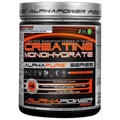 Снимка на Xранителна добавка 100% Pure Creatine Monohydrate Alphapower Food, 1000 грама