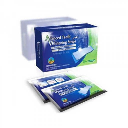 Ленти за избелване на зъбите Dental 360, кутия с 14 плика(28 ленти)