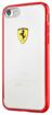Снимка на FERRARI Hybrid Soft Case Clear/Red for iPhone 7 / 8 - Лицензиран хибриден кейс