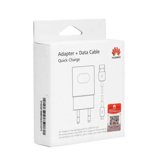 Снимка на HUAWEI 220v Fast Charge + microUSB AP32 White - Оригинално бързо зарядно устройство