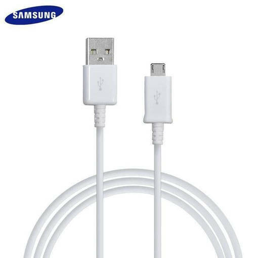 Снимка на SAMSUNG Fast Charge microUSB 1.5m White / Black (Bulk) - Оригинален Кабел за Бързо Зареждане