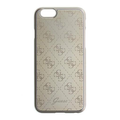 Снимка на Лицензиран aлуминиев кейс - GUESS Aluminium Case iPhone 6/6s Gold