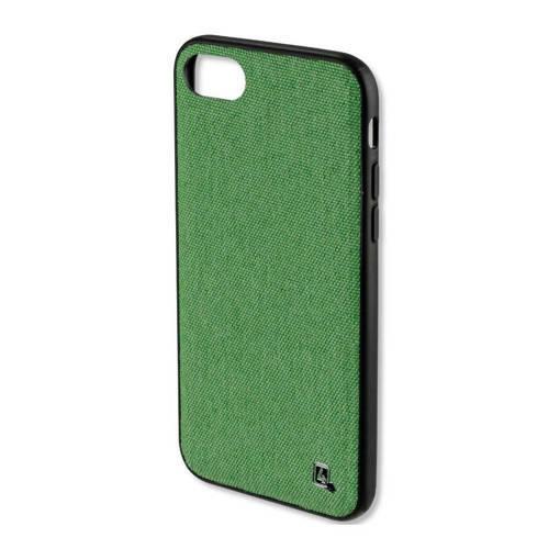 Снимка на Зелен елегантен кейс с текстилен ефект за iPhone 8 Plus / 7 Plus - 4SMARTS Car-Case Green