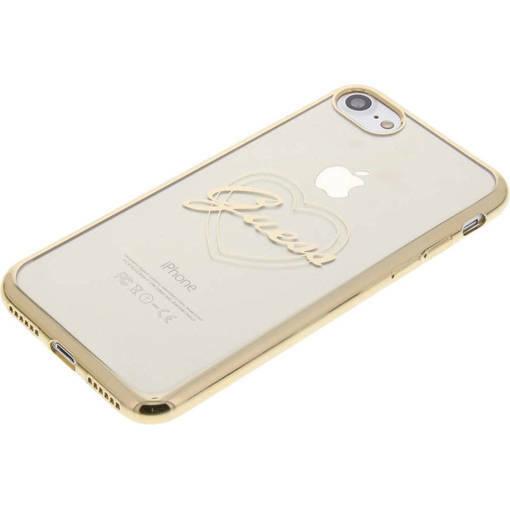 Снимка на Лицензиран Силиконов Кейс - GUESS Silicone Case Heart iPhone 8/7 Clear/Gold