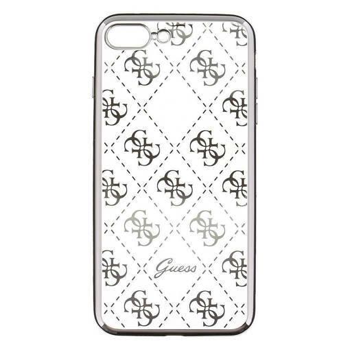 Снимка на Лицензиран Силиконов Кейс - GUESS Silicone Case iPhone 8/7 Clear/Silver