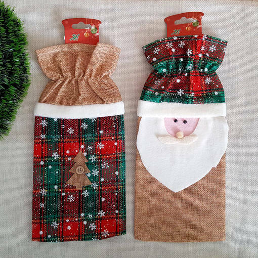 Снимка на Коледна дреха за бутилка калъф декорация за маса