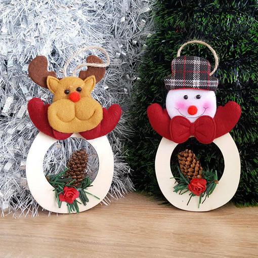 Снимка на Коледна украса за окачване Еленче или Снежен човек