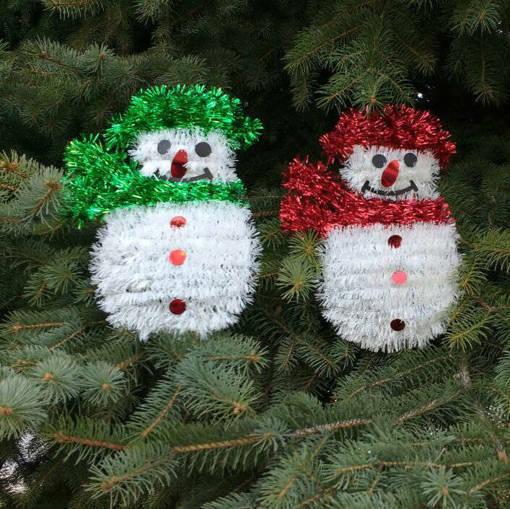 Снимка на Коледна украса за стена снежен човек 32 x 19cm