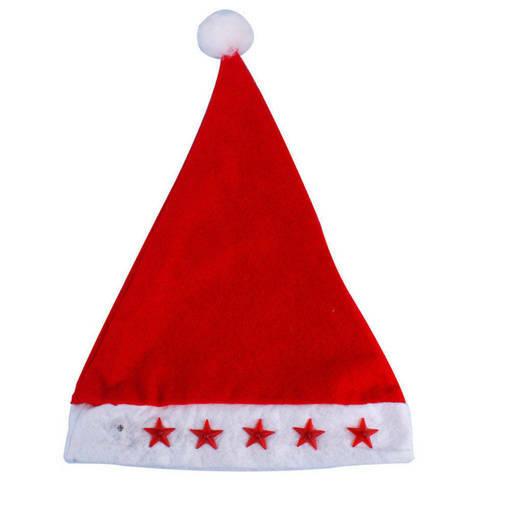 Снимка на Коледна шапка със светещи звездички светеща парти шапка 37см