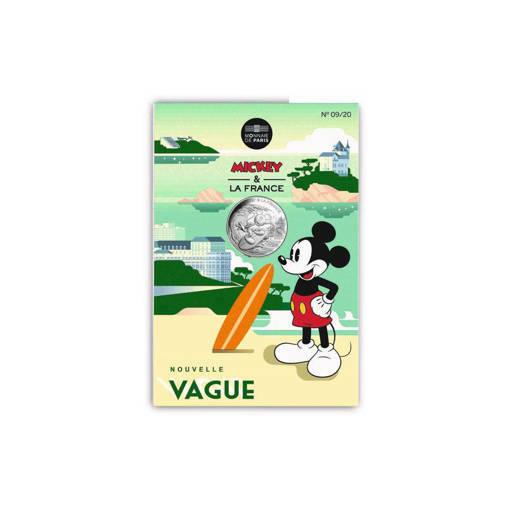 """Снимка на Сребърна монета """"Мики Маус във Франция"""""""