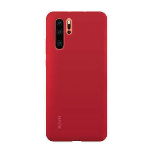 Снимка на HUAWEI P30 Pro Soft Silicone Case Red - Оригинален силиконов кейс
