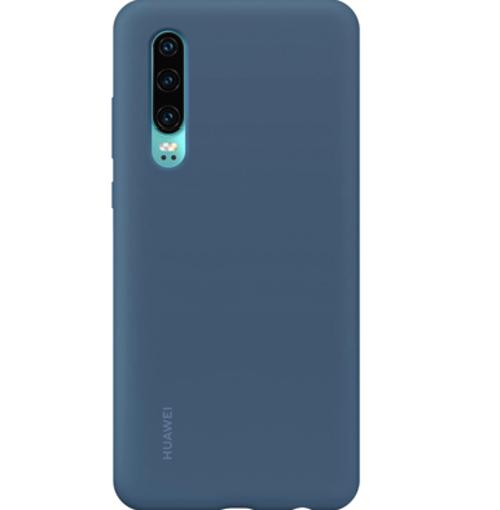 Снимка на HUAWEI P30 Soft Silicone Car Case Blue - Оригинален силиконов кейс