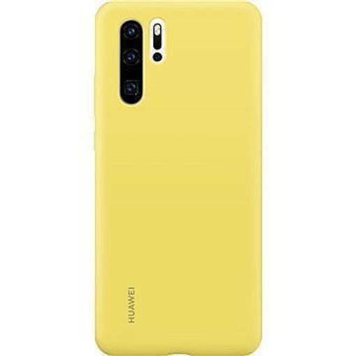 Снимка на HUAWEI P30 Soft Silicone Car Case Yellow - Оригинален силиконов кейс