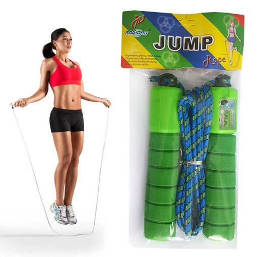 Снимка на Въже за скачане с брояч и дунапренена дръжка 2.50м