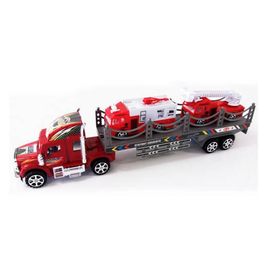 Снимка на Детски автовоз с две пожарни играчка за момче 43см