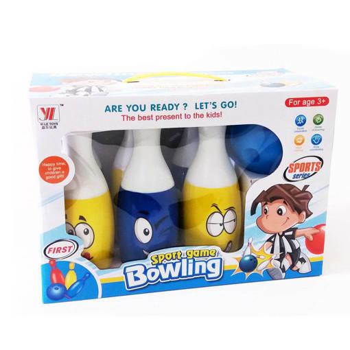 Снимка на Комплект детски боулинг 6 кегли и топка за боулинг Усмивки 24см