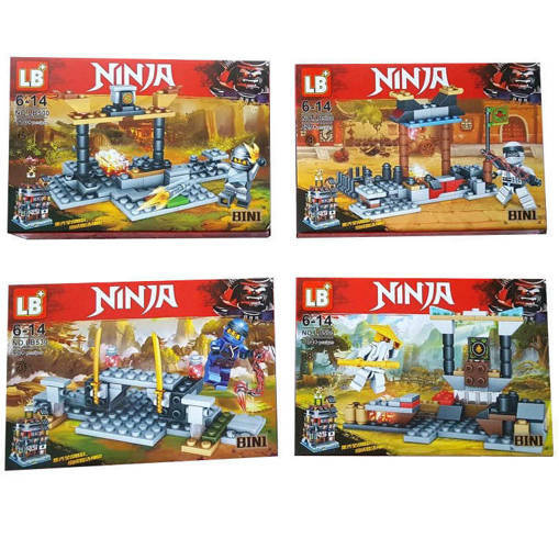 Малък детски конструктор Нинджаго Лего NINJA 4 модела 90-129 части