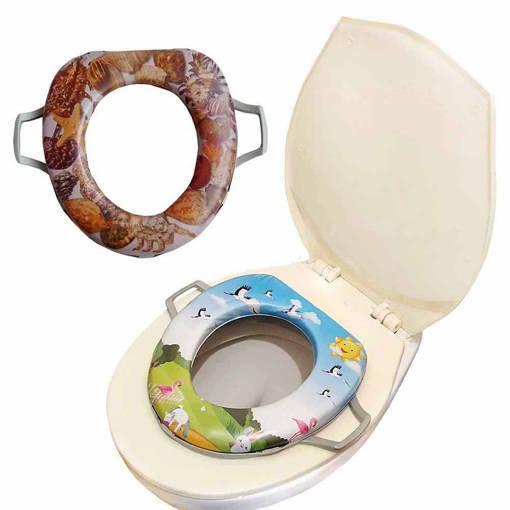 Мека детска седалка за тоалетна чиния с дръжки детски адаптер за WC