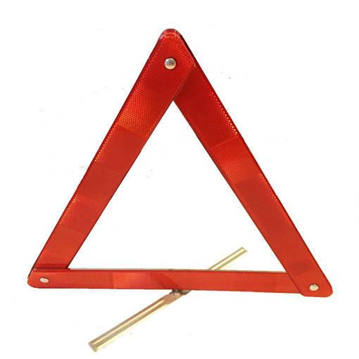 Снимка на Сгъваем авариен триъгълник за автомобил светлоотразител на стойка