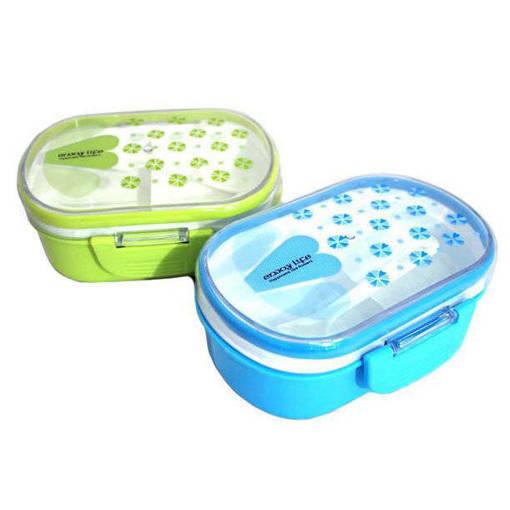 Снимка на Детска кутия за храна с отделения кутия за обяд с лъжичка