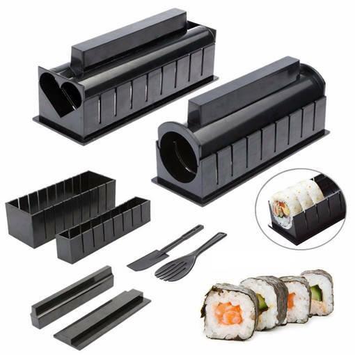 Снимка на Комплект за суши от 10 части сет машинка за приготвяне на суши