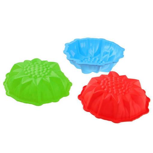 Снимка на Силиконова форма за кекс Слънчоглед форма за печене на тестени сладкиши