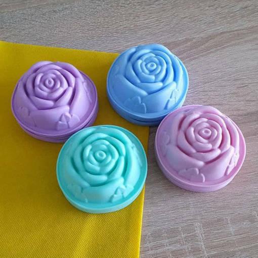 Снимка на Силиконови форми за мъфини Розички комплект от 6 броя форми за мини кексчета