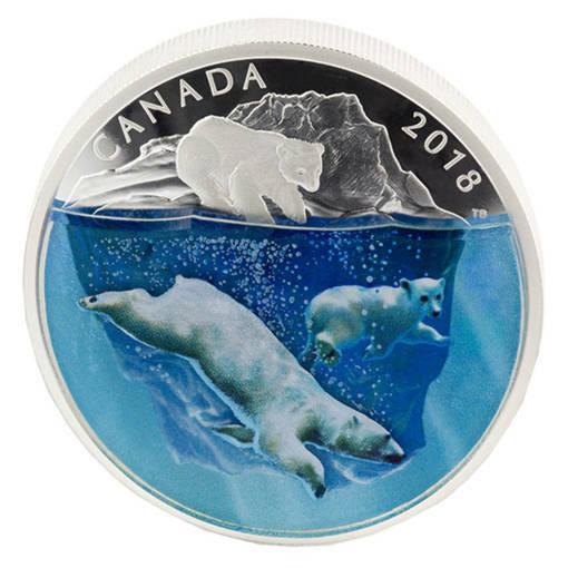 """Сребърна монета """"Полярни мечки 3D"""""""