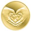 """Медал """"Честита рожба"""", с цялостна позлата"""