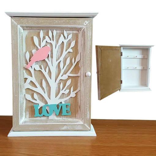 Декоративна кутия за ключове за стена - LOVE