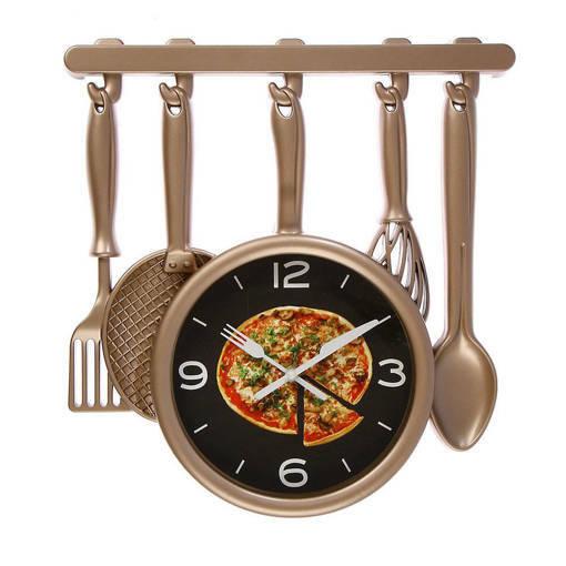 Кухня декоративен кухненски часовник с форма на Кухненски прибори