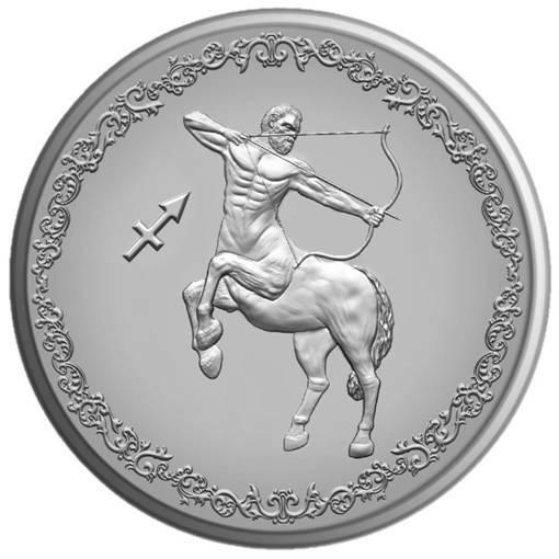 "Сребърен медальон ""Зодия Стрелец"""