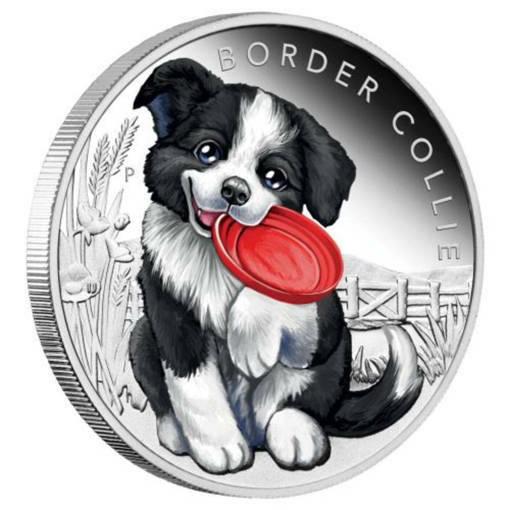 """Сребърна монета """"Кученца – Бордър коли"""""""