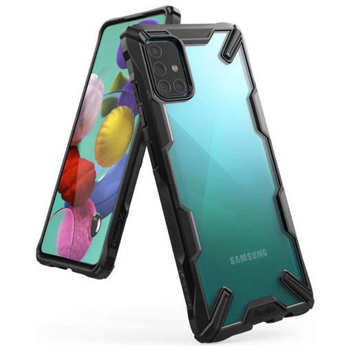 Противоударен кейс - RINGKE Fusion X за Samsung GALAXY A51 BLACK
