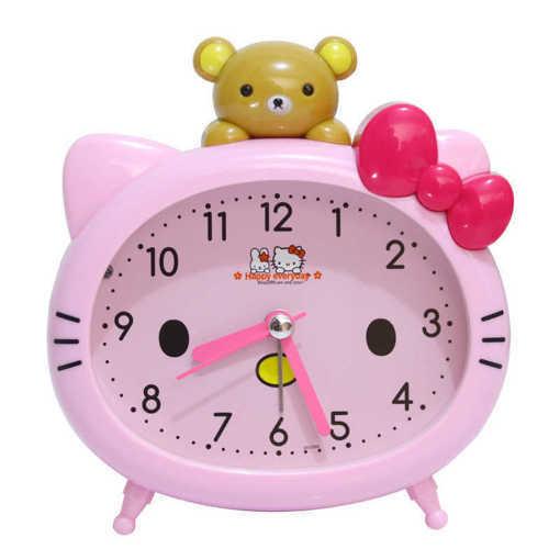 Детски будилник Hello Kitty - настолен часовник с аларма и лампичка