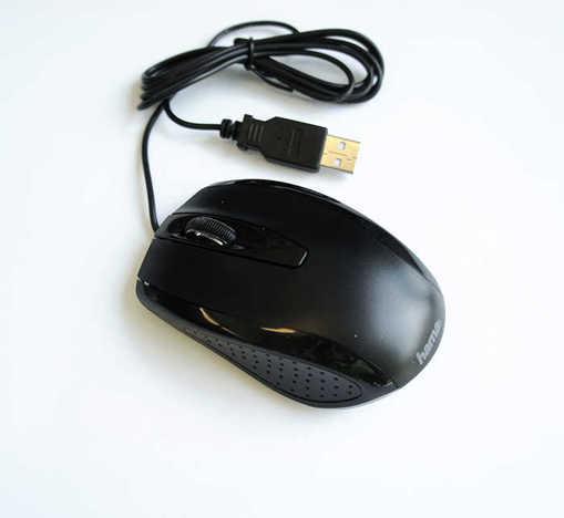 Оптична мишка HAMA/AM-5400 черна USB DPI=800