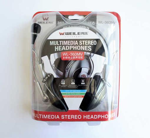 Слушалки Hi-Fi ергономични стерео кожени с микрофон 110dB