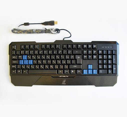 Геймърска клавиатура uRAGE черна с допълнителни бутони USB 1,3m