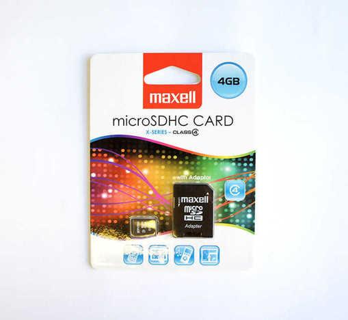 MicroSD карта памет клас 10 MAXELL с адаптер 4GB