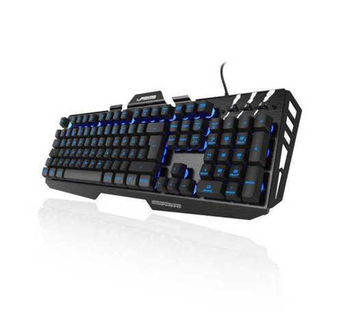 Геймърска метална клавиатура Cyberboard черна с допълнителни бутони USB RGB