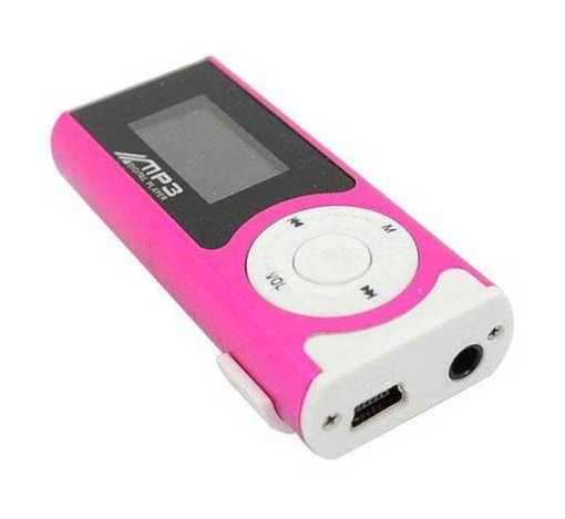 Преносим MP3 плеър с дисплей и Li-ion батерия в комплект с кабел и слушалки