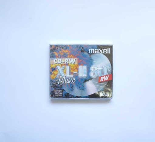 Диск MAXELL CD-RW с кутия музикантски 80min