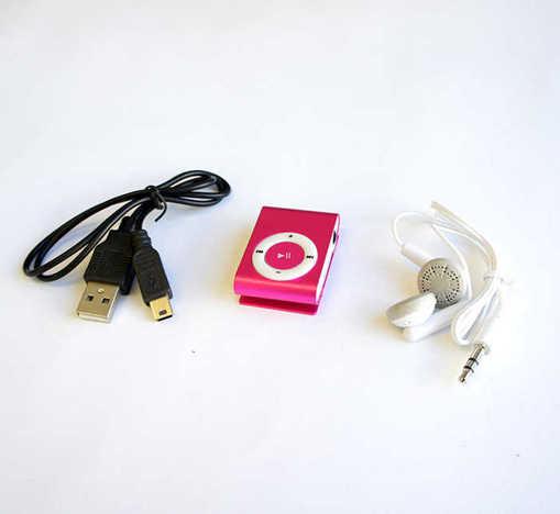 Преносим MP3 плеър с Li-ion батерия в комплект с кабел и слушалки