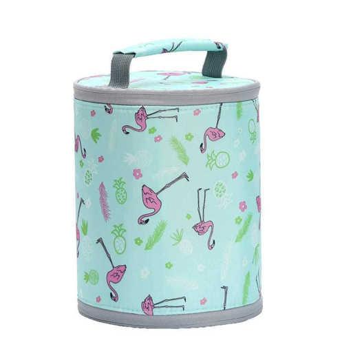 Сгъваема цилиндрична термо чанта за храна и напитки