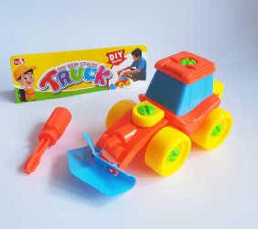 Детска играчка Конструктор с форма на Трактор с инструмент